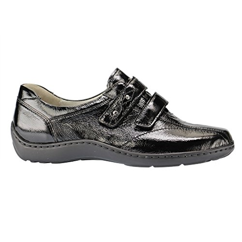 Waldlaufer Womens Henni 496301 Leather Shoes Black CDde8E81Hi