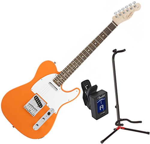 Squier 0310200596 Affinity Tele RW Competition Orange w/ Stand and Tuner (Fender Affinity Tele compare prices)