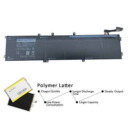 ZWXJ New Laptop Battery Type 6GTPY(11.4V 97WH) For Dell XPS 15 9560 Precision 5520 M5520 5XJ28 6GTPY by ZWXJ (Image #1)