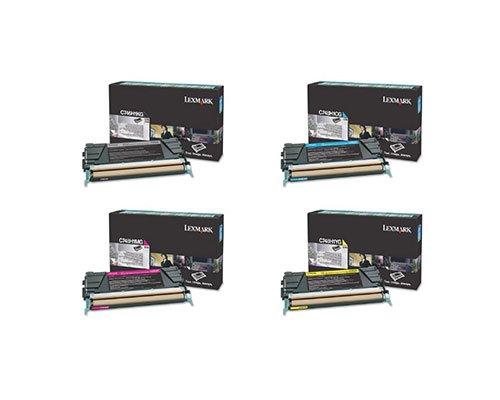 Lexmark Part# C746H1KG. C748H1CG. C748H1MG. C748H1YG Toner Cartridge Set (OEM) by Lexmark