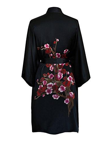 Women's Silk Kimono Robe Short - Handpainted