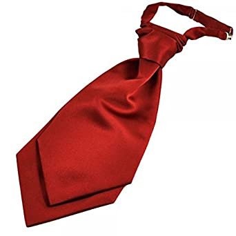 06ede82f8e60 Ties Planet Plain Wine Red Scrunchie Wedding Cravat  Amazon.co.uk  Clothing