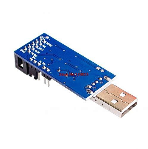 1PC 10PIN to 6PIN Adapter Stayhome 2 PCS =1PC SBASP USB AVR Programmer for Atmel USB ASP USBISP ISP Bootloader New