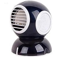 Q scented USB mini bladeless fan portable fan cute desktop office mute mini fan Black