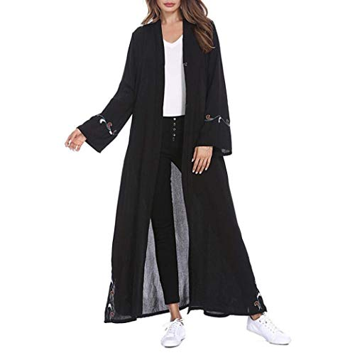 Vintage Schwarz Eleganti Ragazza Outerwear Fashion Etnico Baggy wZwnSqxTI