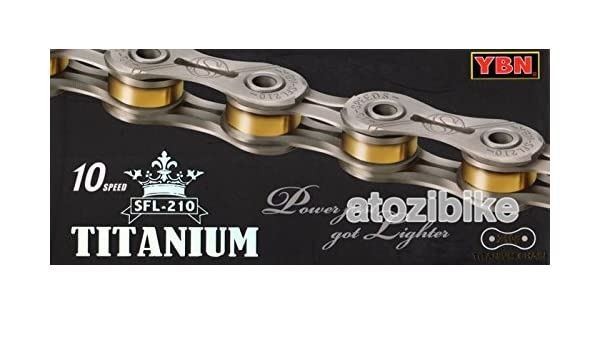YBN Super-light Chains SLA-210 Titanium 10 Speed Bike Chain Cycling 210g Gold