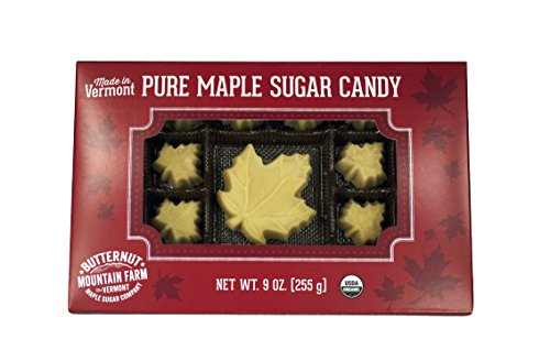 Butternut Mountain Farm Pure Organic Maple Syrup Candy, 9-Ounce Box