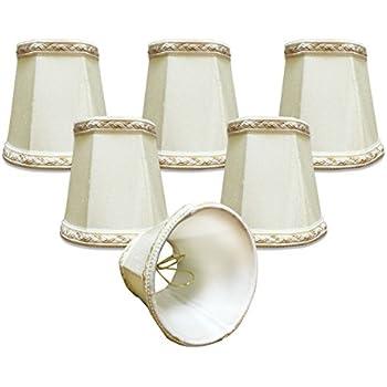 Urbanest chandelier lamp shades set of 6 soft bell 3x 6x 5 royal designs 6 pack 4 deep empire chandelier lamp shade with top and bottom designer trim eggshell 3 x 425 x 425 dcs 113eg 6 aloadofball Gallery