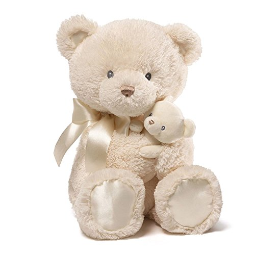 Gund Baby Momma & Bear Rattle Plush, Cream, 15