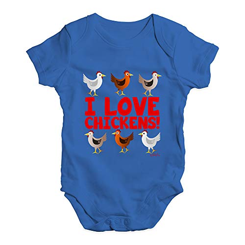 TWISTED ENVY Funny Baby Clothes I Love Chickens!