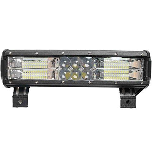 Xuanhemen 12inch 240W Five Row LEDs Waterproof Car Work Light Bar Spot Beam Driving Fog Lights Lamp for SUV ATV Off Road Boat