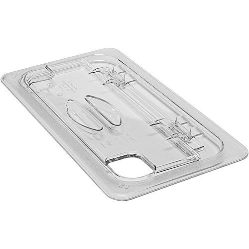 (Fliplid Food Pan Cover, 1/3 Size, Notched, Hinged, Polycarbonate, Clear (6 Pieces/Unit) by Cambro )