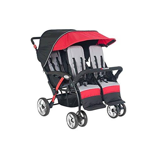 Foundations The Quad Sport Sport 4-Passenger Stroller, Red