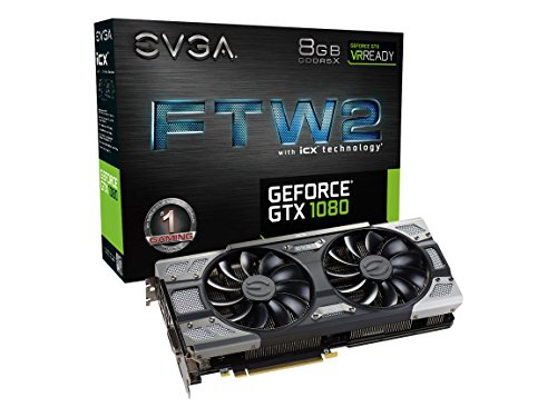 Price comparison product image EVGA GeForce GTX 1080 FTW2 GAMING, 8GB GDDR5X, iCX Technology - 9 Thermal Sensors & RGB LED G/P/M, Aysnch Fan, Optimized Airflow Design Graphics Card 08G-P4-6686-KR