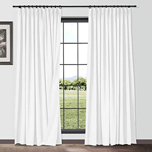 TWOPAGES Cotton Linen Curtain Drapery Decorative Curtain