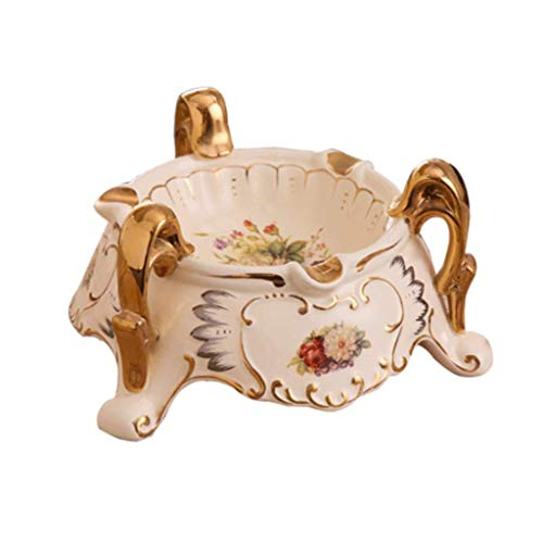 (ZXW Ashtrays - Simple Ceramic Ashtray, Living Room Fashion Decoration (Color : Beige, Size :)