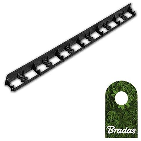 Bradas OBRB78TYP2 0575 - Borde para césped (PVC, 78/1000 mm ...