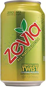 Zevia All Natural Soda, Lemon Lime Twist, 12-Ounce Cans (Pack of 24)