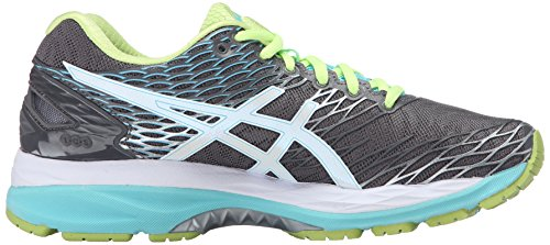 ASICS Women's Gel-Nimbus 18 Running Shoe Titanium/White/Turquoise sale free shipping get authentic cheap sale Cheapest authentic outlet locations sale online XCILF4wzyC