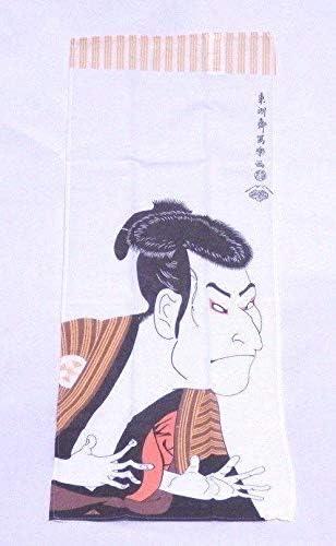 Daiso - Toalla de Mano (algodón japonés, 87 x 35 cm), diseño de Actor de Kabuki: Amazon.es: Hogar