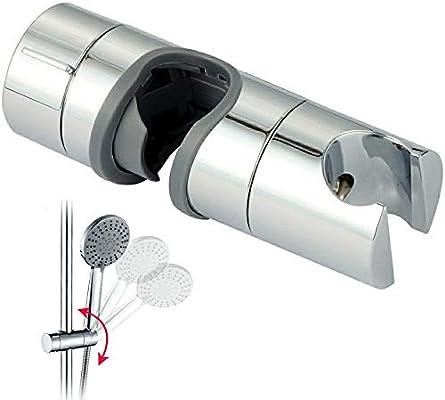 ABS Replacement Sturdy Shower Rail Head Slider Holder Adjustable Bracket US