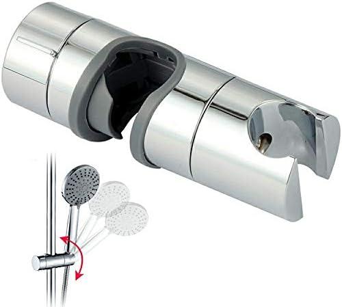 Chrome Replacement Shower Head Holders Bracket Slider Rail Clamp Adjustable Good