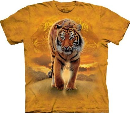 The Mountain Rising Sun Tiger Child T-Shirt, Gold, Small