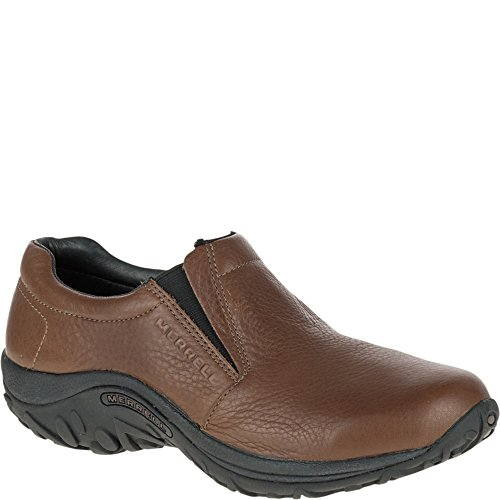 Merrell Men's Jungle Moc Leather Slip-On Shoe,Mahogany Brown,11 M US