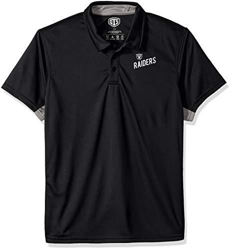 OTS NFL Oakland Raiders Men's Poly Dot Polo, Hooper, Large