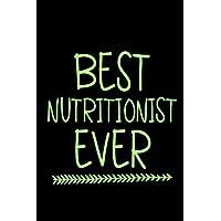 La mejor nutricionista de la historia: cuaderno de cuaderno en blanco