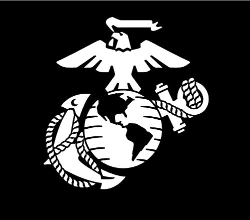 Marine Corps - Eagle Globe & Anchor White Usmc Car Decal Window Stickers (6 X 5.75)