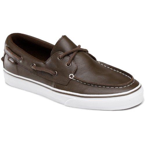 Vans - Zapatillas de cuero para mujer nogal