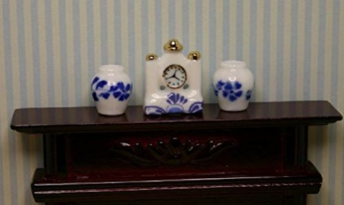(Miniature Mantle Clock and 2)