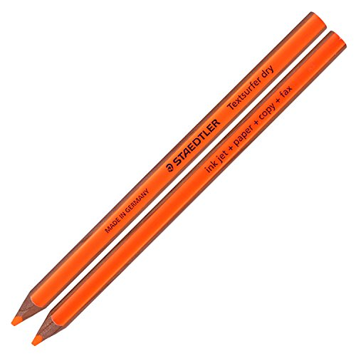 Staedtler Textsurfer Dry Highlighter Pencil 128 64 Drawing for Writing Sketching Inkjet,paper,copy,fax (Pack of 12 Orange) Photo #2
