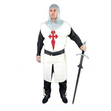 Traje Medieval Hombre Orden Santiaguista: Amazon.es ...
