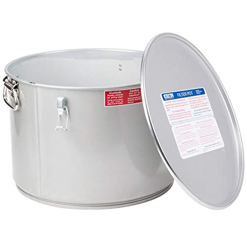 Miroil 60L/02060 55 Lb. Grease Bucket/Filter Pot With Lid