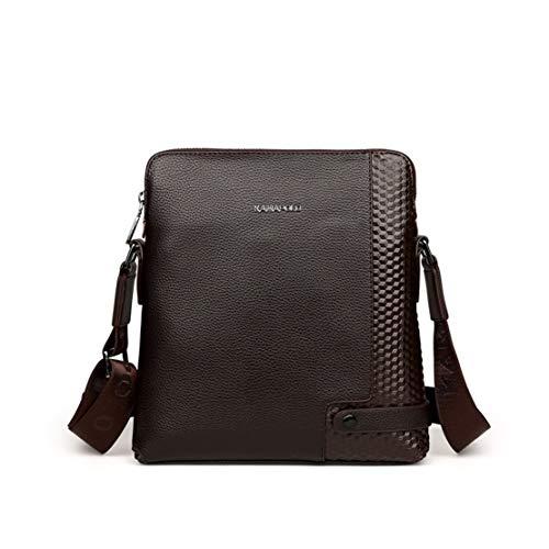 Cuir Ajustable Pu c Layxi Handbag Sac Marron1 Pouces 13 Sacs Business D'épaule Grande Etanche Laptop Shoulder Affaire Fonctionnel Capacité Hommes Bags 7xRPxE