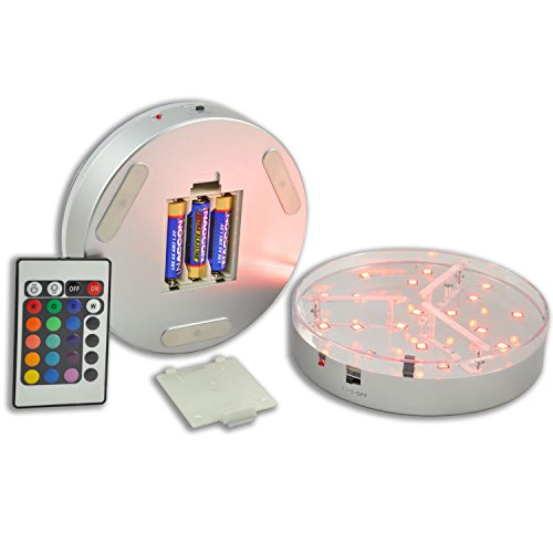 Multi Color Led Light Base For Centerpieces