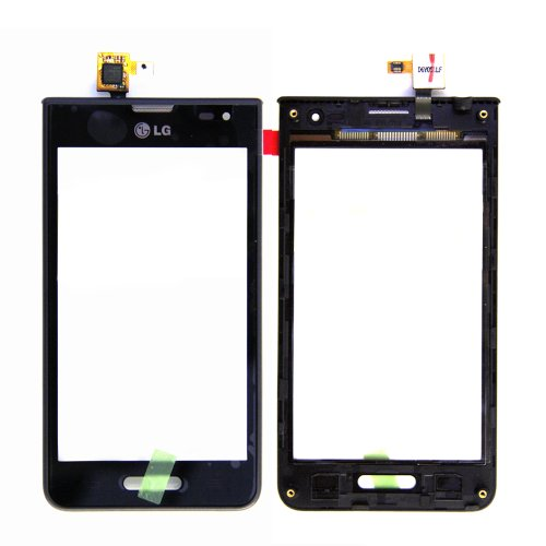 ePartSolution-OEM LG Optimus F3 MS659 & P659 Touch Digitizer Screen with Frame Bezel Assembly Replacement Part USA Seller (Lg P659 Optimus F3)