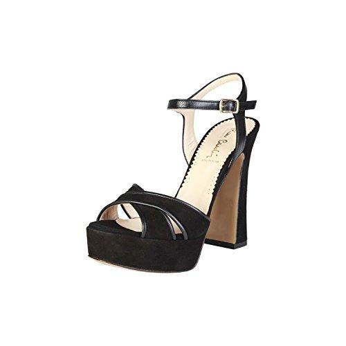 PIERRE CARDIN PIERRE CARDIN EW-1013 Sandalias De Vestir Para Mujer Con Correa De Tobillo Ajustable Tacón: 13 cm, Meseta 4 cm