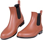 Women's Ankle Rain Boots Waterproof Chelsea B