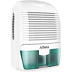 Afloia Electric Home Dehumidifier, Protable Mini Dehumidifier for Home 2200 Cubic Feet Ultra Quiet Air Dehumidifiers for Bathroom,Home,Bedroom,Kitchen,Basement,Caravan,Office,Garage