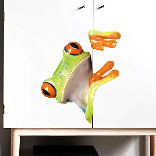 qingyuge Wall Sticker 3D Vivid The Little Frog 1820Cm DIY Wall Stickers for Kids Rooms Car Cabinet Home Decor Cartoon Animal Wall Decal PVC Mural Art -