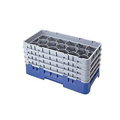 Cambro 17HS1114184 Camrack Glass Rack with 6 extenders half size 17 compartment