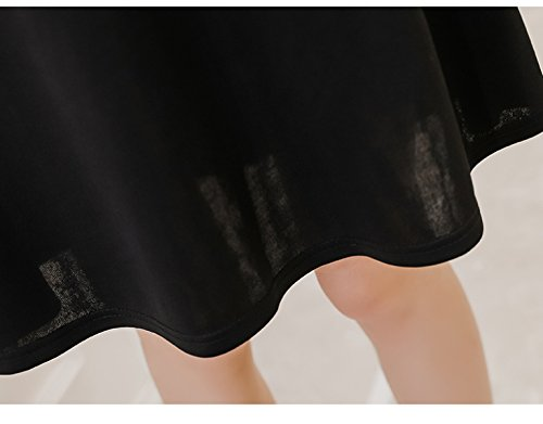 Size Langärmliges XXL JFin War Damenmode Spitzennähkleid Large Black Dünn FxwAzq