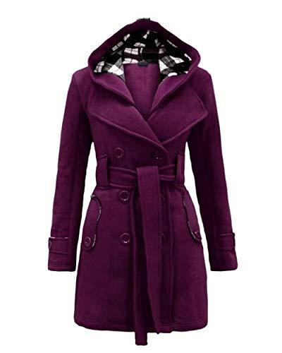 Manica Bolawoo Slim Mode Cappuccio Di Autunno Inclusa Con Plus Double Violett Lunga Classiche Outwear Giacca Prodotto Trench Donna Fit Marca Breasted Mantello Cintura Invernali NO8ynvm0wP