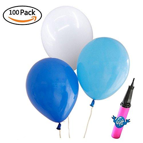 100 light blue balloons - 4