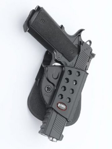 Fobus Conceal carry Paddle Holster for 1911 Style w. Rails/ Kimber Custom TLE/RL II .45 cal / Springfield 1911 .45 cal. /Colt 1911 with Rails