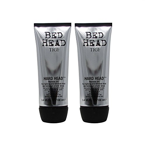 Bundle-2 Items : TIGI Bed Head Hard Head Mohawk Gel, 3.4 Ounce (Pack of 2) -