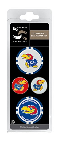 Team Effort Kansas Jayhawks Ball Marker Set